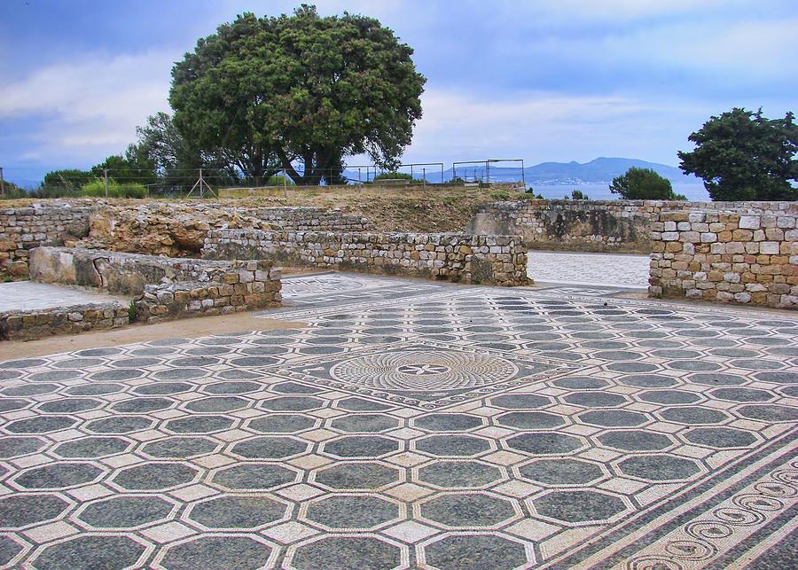 Mosaic Photograph - Mosaic By The Sea - Empuries by Nikolyn McDonald