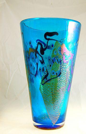 Vase Glass Art - Mosaic Cone Vase by Robert Held