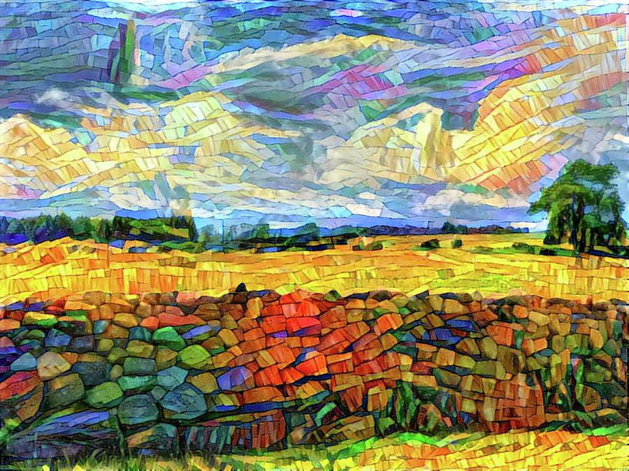 Mosaic Landscape Digital Art By Yury Malkov