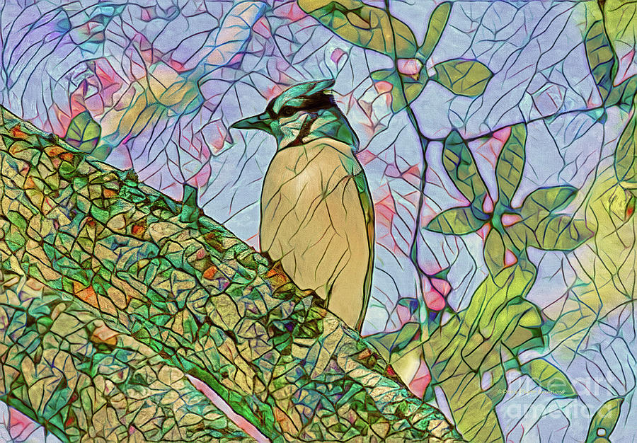 Blue Jay Painting - Mosaic Of Blue Jay by Deborah Benoit