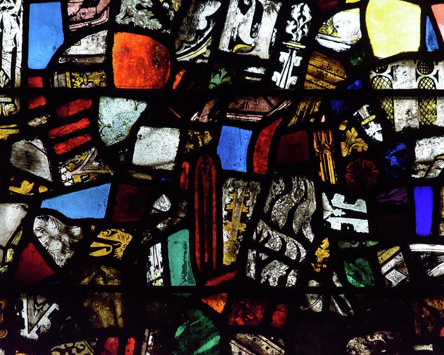 Aged Photograph - Mosaic Stained Glass A by Jacek Wojnarowski
