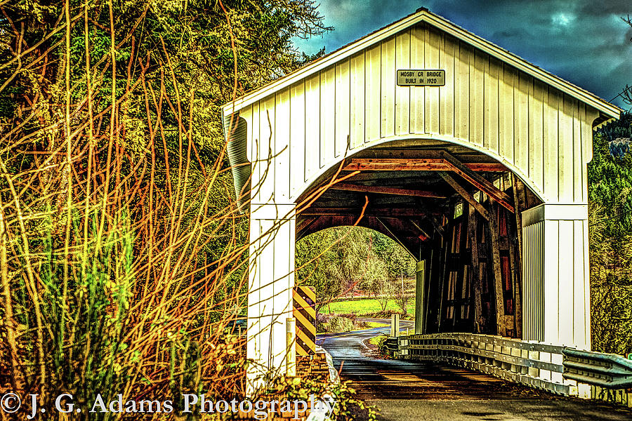 Bridge Photograph - Mosby Creek Bridge by Jim Adams
