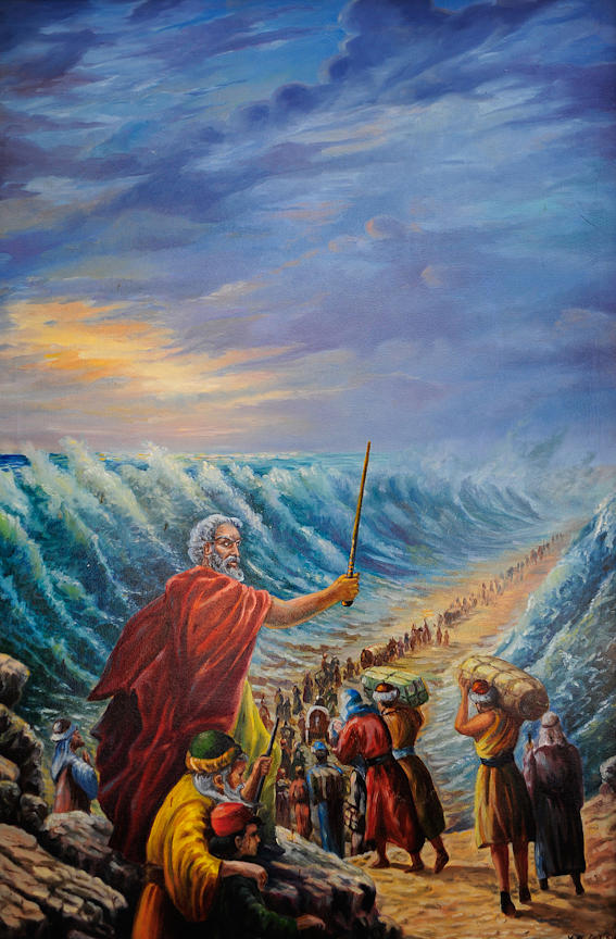 Moses At The Red Sea Painting by Vladimir Bibikov