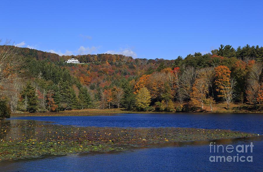 Moses Photograph - Moses Cone Manor House And Bass Lake by Jill Lang