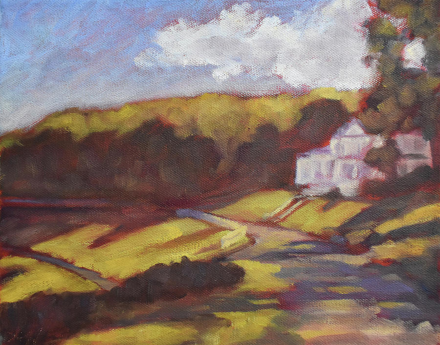 Moses Cone Painting - Moses Cone Manor, Plein Air by Lauren Waterworth
