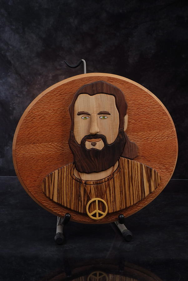 Intarsia Sculpture - Moses by Steve Weber