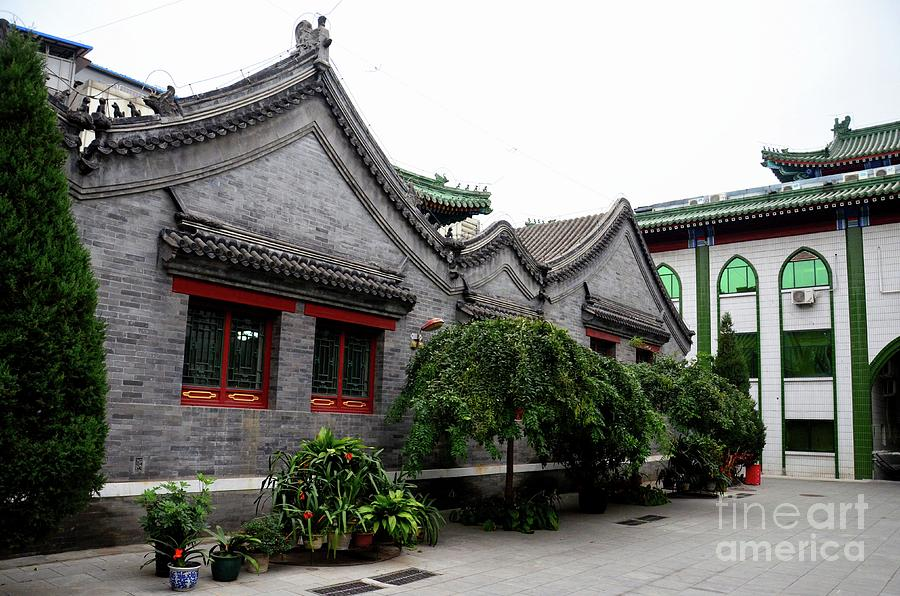 mosque building in traditional chinese architecture style beijing