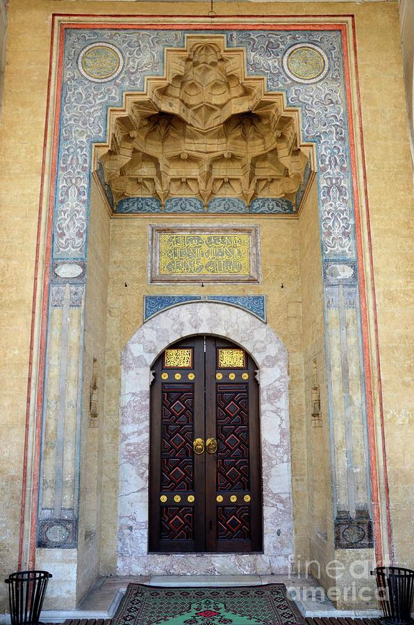 Mosque Photograph   Mosque Door In Niche With Carvings And Calligraphy  Sarajevo Bosnia Hercegovina By Imran