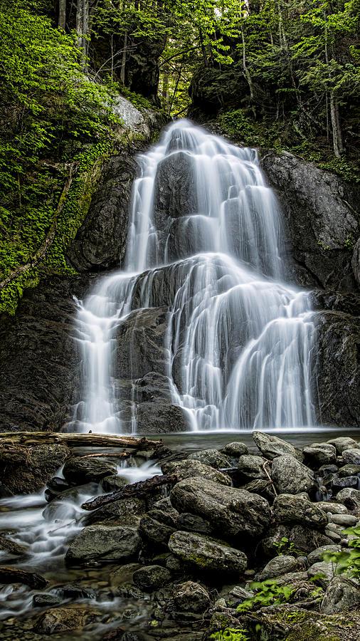 Moss Glen Falls - Vertical Photograph