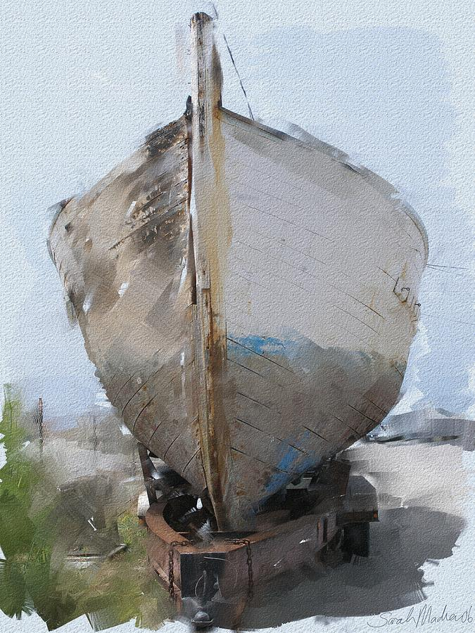 Boat Painting - Moss Landing Boat by Sarah Madsen