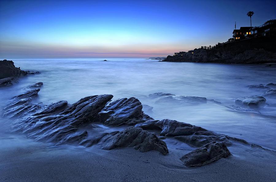 Laguna Beach Photograph - Moss Street Blue by Gary Zuercher