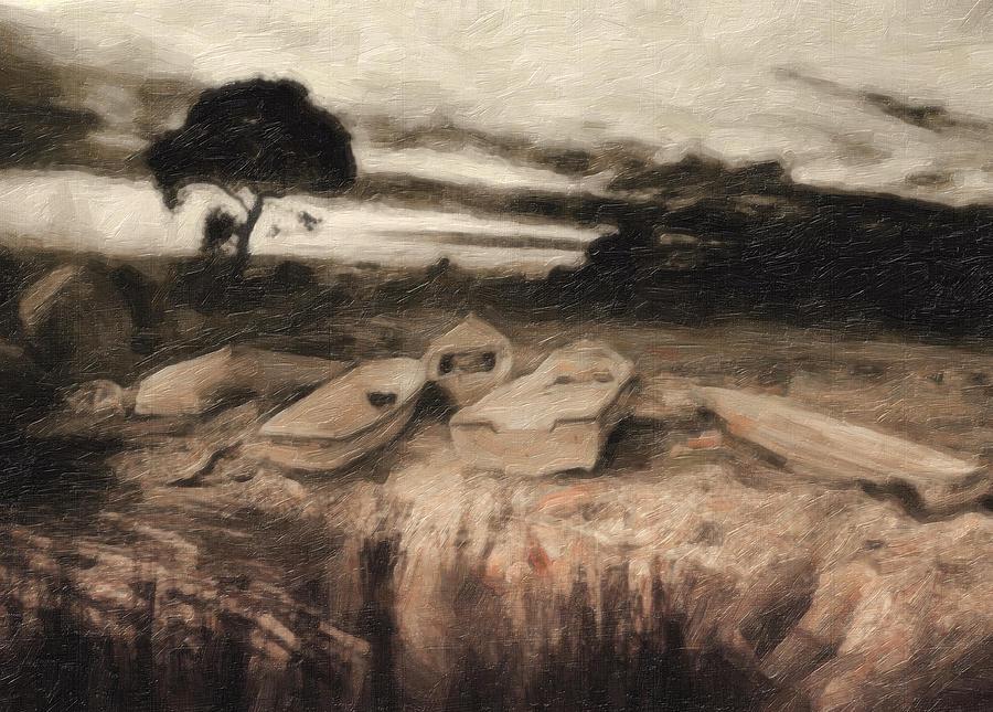 Oil Painting Painting - Moss by Taylan Apukovska