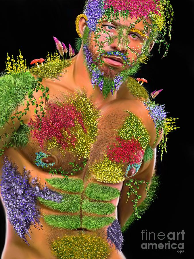 Male Portrait Digital Art - Mossy Mack by Chad Lindsay