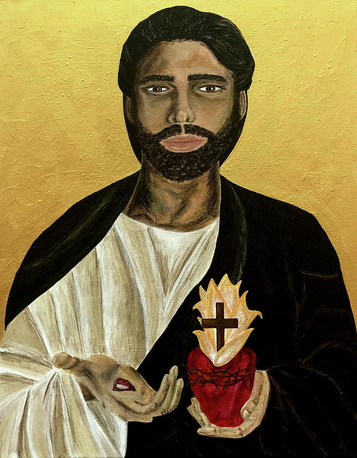 Sacred Heart Painting - Most Sacred Heart Of Jesus by Mikayla Ruth Koble