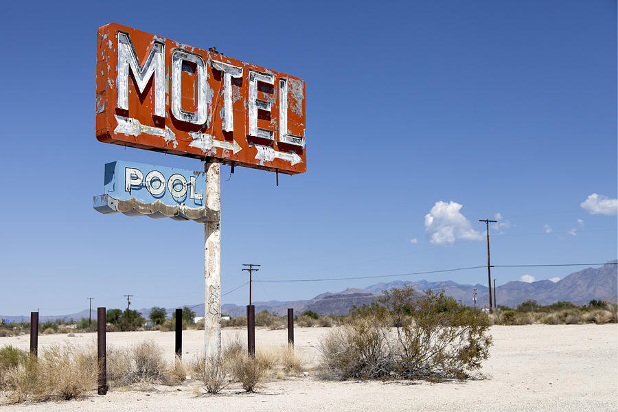 Motel And Pool In Yucca Photograph