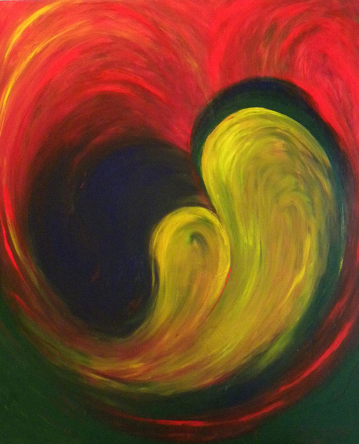 Abstract Painting - Mother And Baby by Fanny Diaz