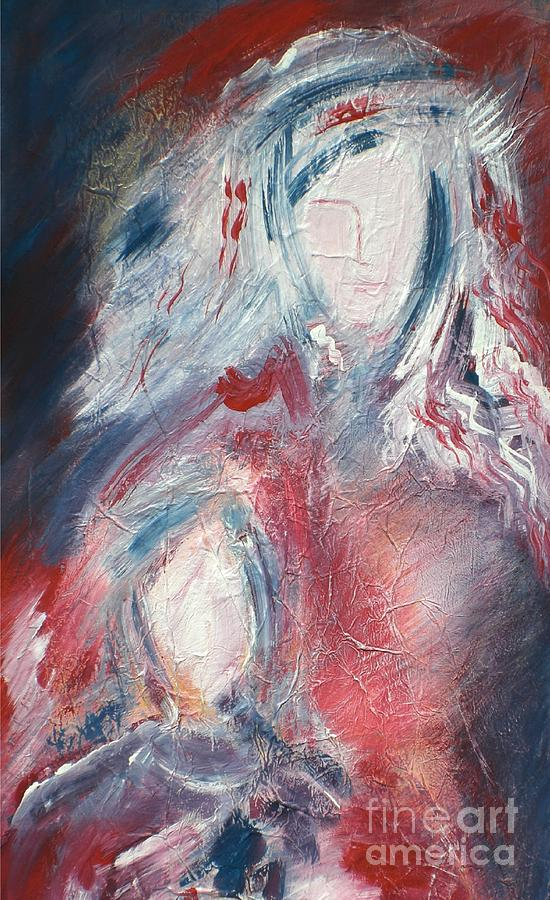 Mother And Child Mixed Media - Mother And Child 3 by Mimo Krouzian