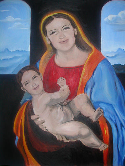 Virgin Painting - Mother And Child by Aimee Johnson