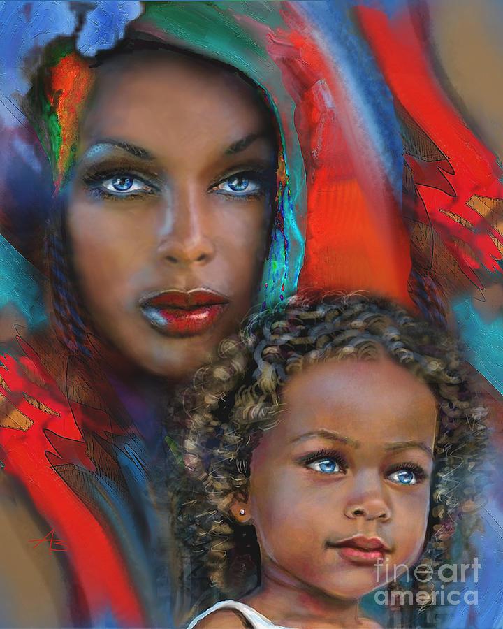 Tu ilustración del dia - Página 5 Mother-and-child-angie-braun