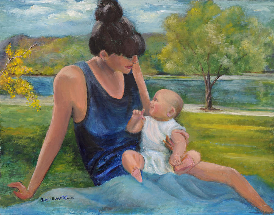 Mother and Child by Aurelia Nieves-Callwood