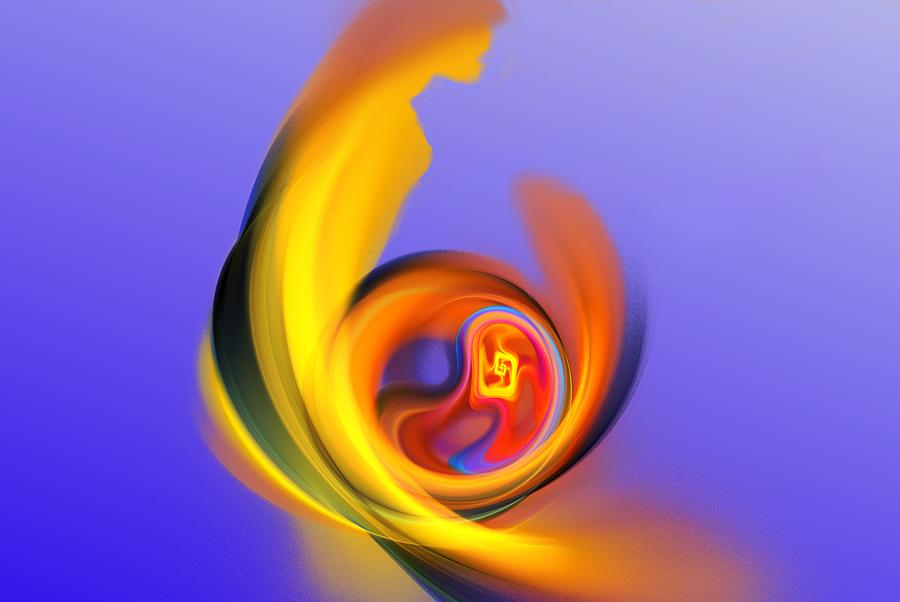 Abstract Digital Art - Mother And Child by David Lane