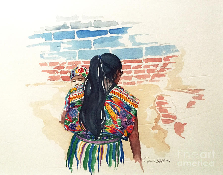 Chichicastenango Painting - Mother And Child by Donna Newsom