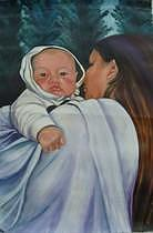 Child Painting - Mother And Child by Eileen Kasprick