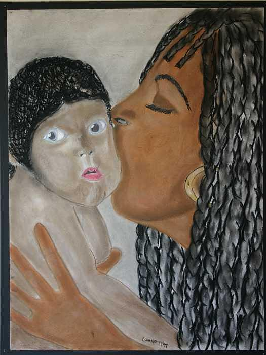 Portrait Painting - Mother And Child by Garnett Thompkins