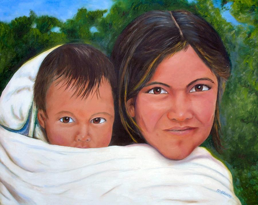 Portrait Painting - Mother and Child by Merle Blair