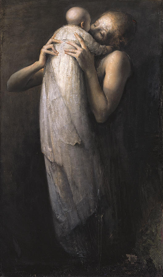 Mother And Child Painting By Odd Nerdrum