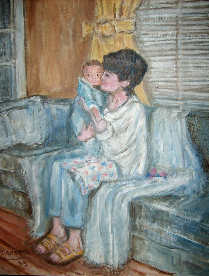 Mother And Child R Painting by Joseph Sandora Jr