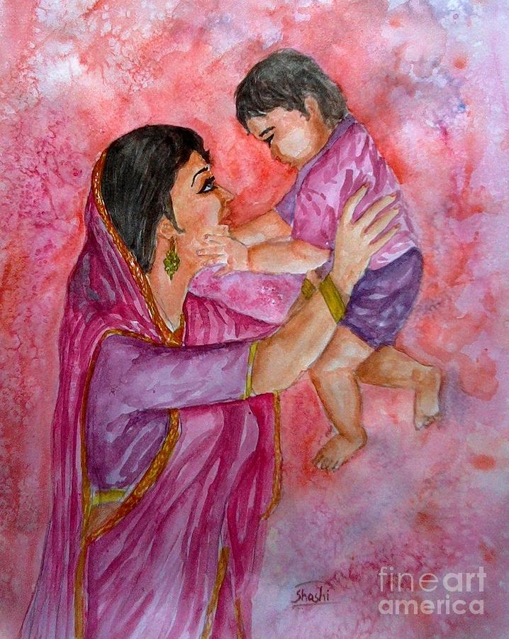 Mother Painting - Mother And Child by Shashikanta Parida