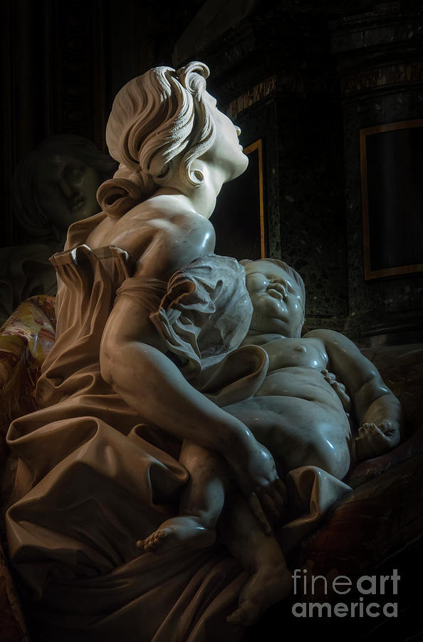 Tomb Photograph - Mother And Child by Vyacheslav Isaev