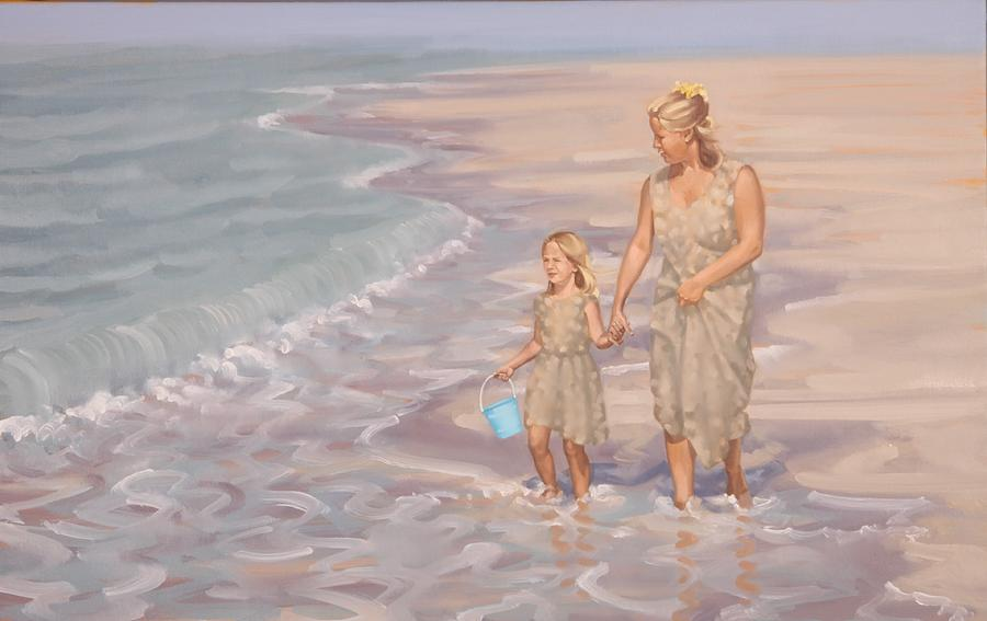 Mother And Daughter Painting by Gary M Long