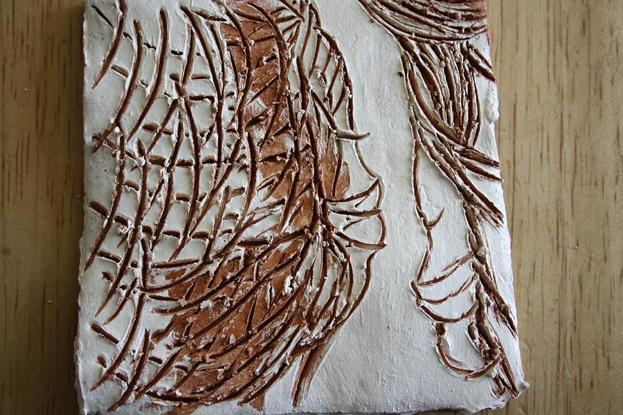 Jesus Ceramic Art - Mother And Son - Tile by Gloria Ssali