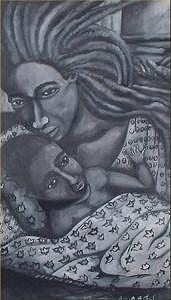 Mother And Son Painting by Andrew Johnson