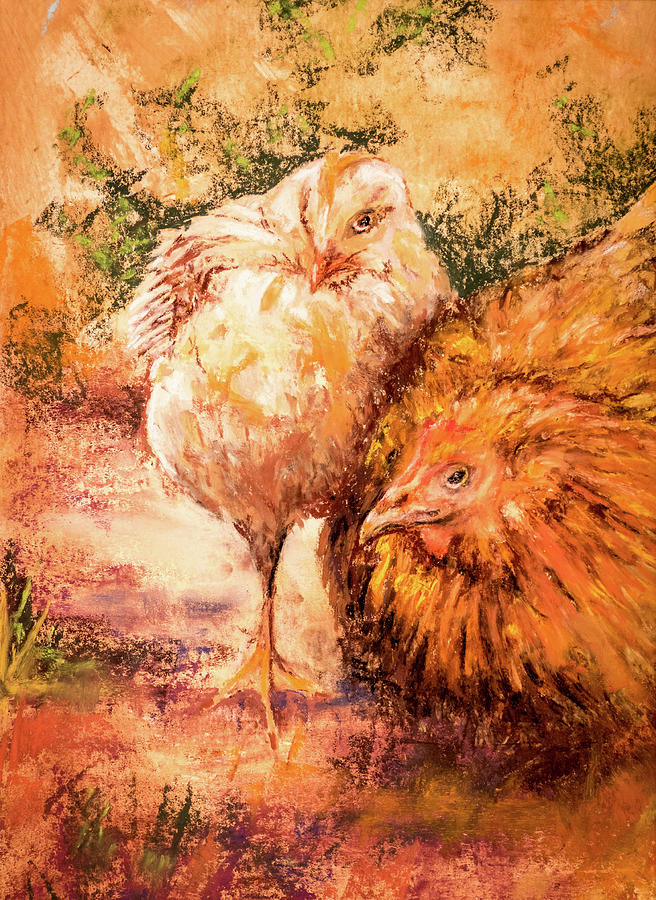 Pastel Pastel - Mother And Son by Philip Lodwick Wilkinson