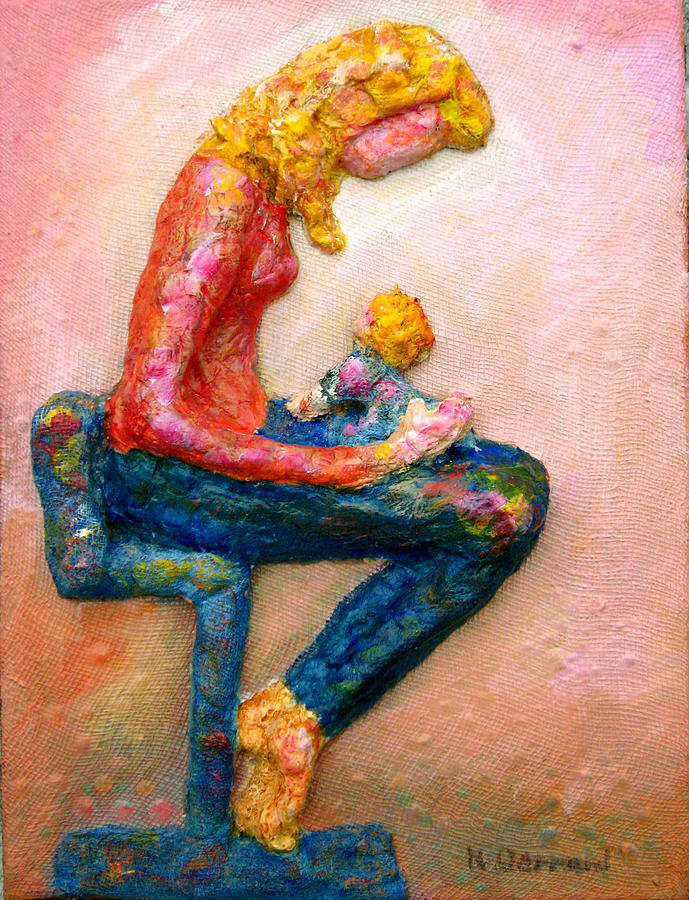 Mother And Child Painting - Mother Bonding I by Naomi Gerrard