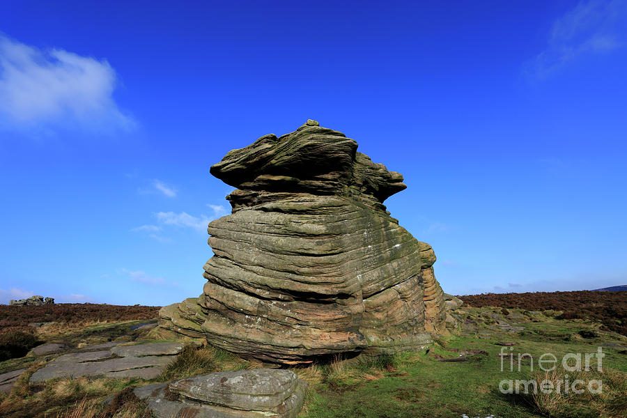 Moor Photograph - Mother Cap Gritstone Rock Formation, Millstone Edge by Dave Porter