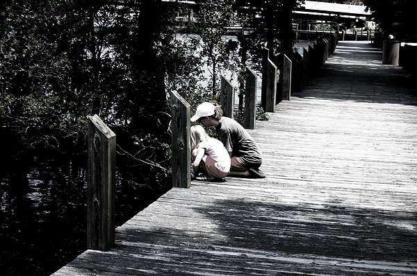 Pier Photograph - Mother Daughter by Chelsea Jones