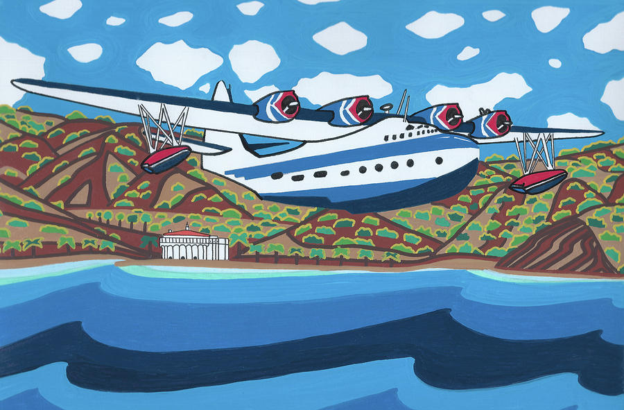 Seaplane Painting - Mother Goose by Carlos Martinez