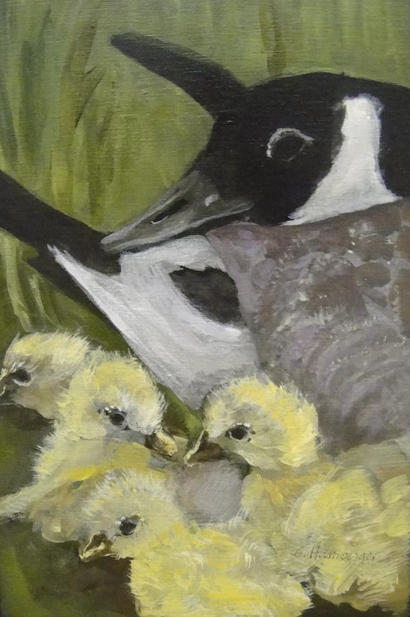 Goose Painting - Mother Goose by Edith Hunsberger