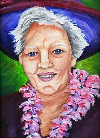 Portrait Painting - Mother In Law by Anita Banks Ambrister