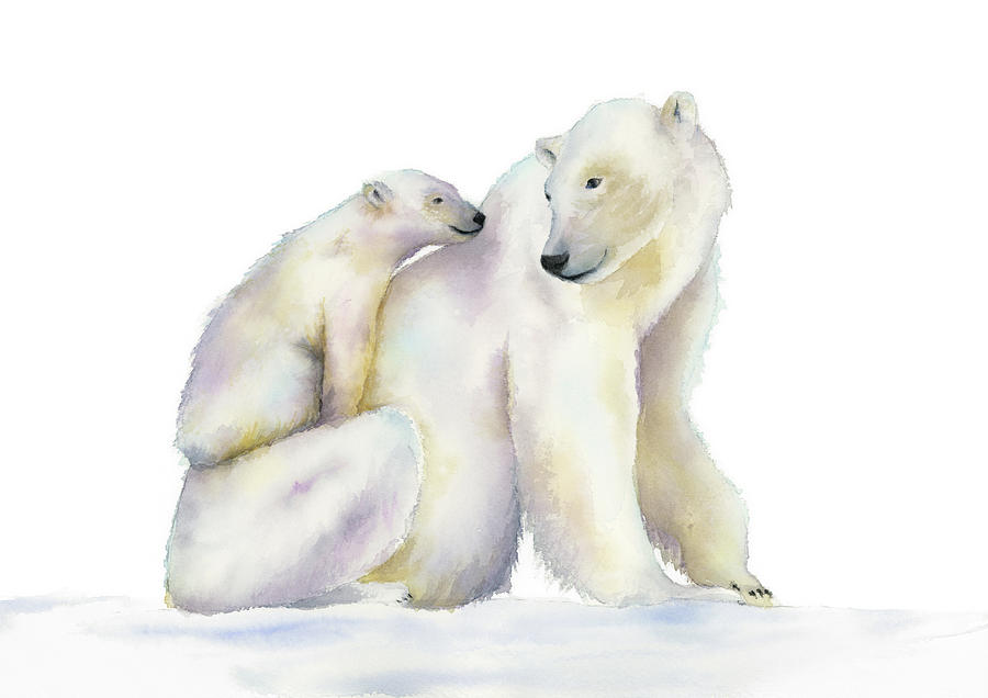 Polar Bears Painting - Mother by Zapista Zapista