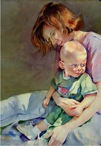 Mother And Child Painting - Mother Love by Marlene Gremillion