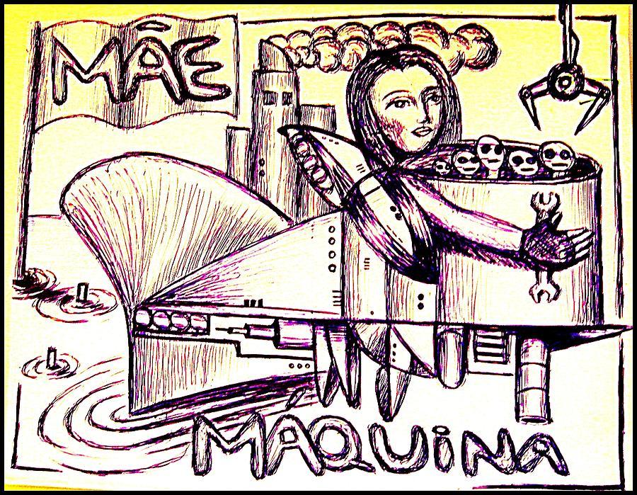 Illustration Painting - Mother Machine by Paulo Zerbato