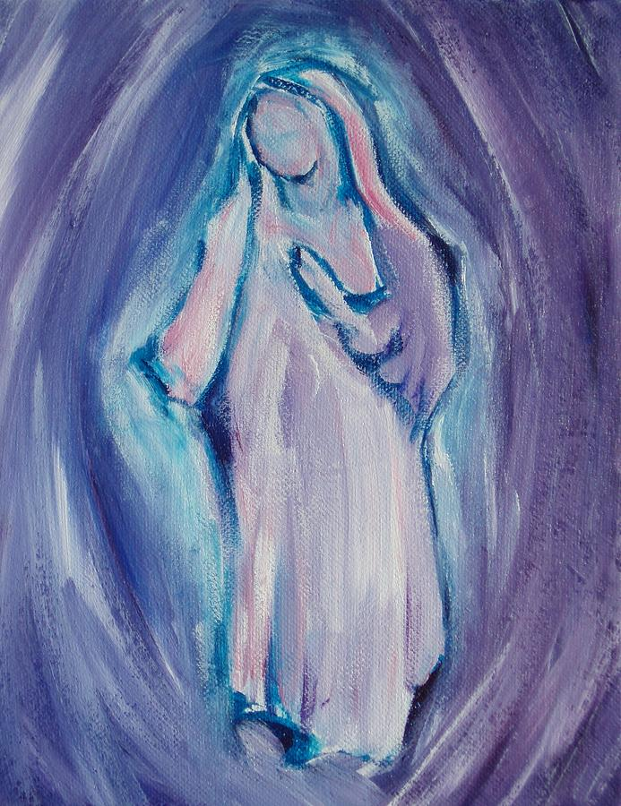 Mother Mary Painting - Mother Mary Essence by Tara Moorman