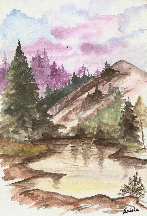Mountains Painting - Mother Nature by Anisha Bordoloi