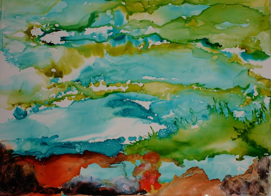 Wave Mixed Media - Mother Ocean by Susan Kubes