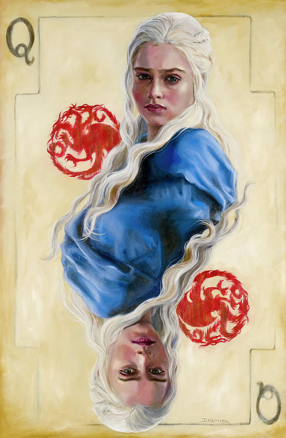 Got Painting - Mother Of Dragons by Denise H Cooperman